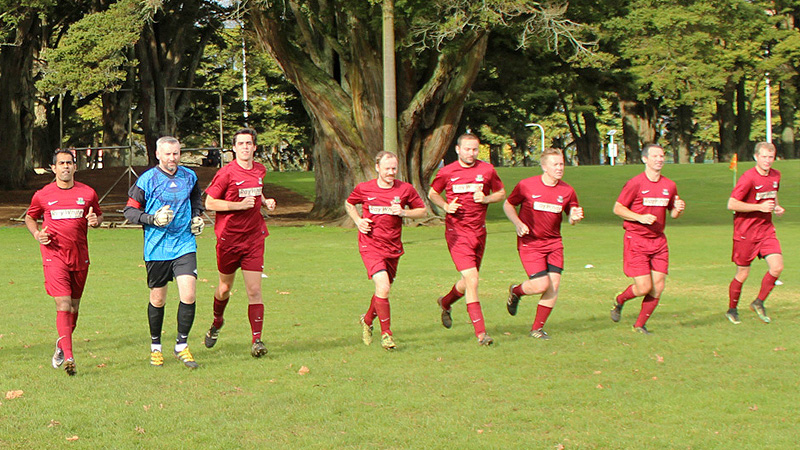 Pukekohe AFC Mens Firsts warm up