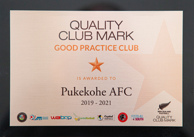Pukekohe AFC - Quality Club Mark